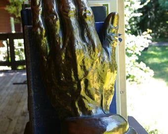 Vintage bookend, hand bookend