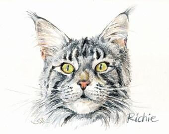 Sketch-portrait of your cat (A4 size)/Portrait-croquis de votre chat (A4)