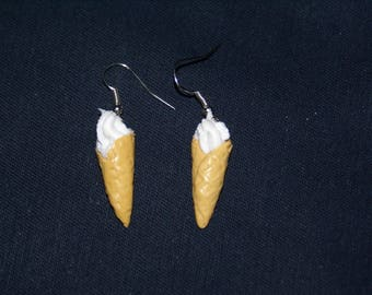 Italian vanilla ice cream earrings