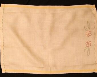 Hand Embroidered Vintage Kitchen Towel