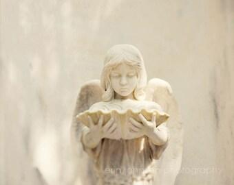 cemetery photography, savannah georgia, angel statue, bonaventure cemetery, white decor, angel wall decor, Angel I