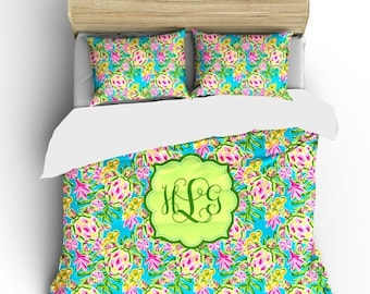 Memorial On Sale Sea Turtles Bedding Ensemble Custom Personalized -available Twin, TwXL, F-Queen or King Size - Your name or initials