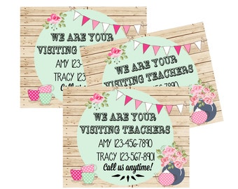 We Are Your Visiting Teachers 5X4 Calling Cards