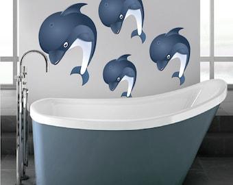 Dolphin Wall Decals Nursery Dolphin Wall Sticker, Dolphin Room Wall Art, Kids Bedroom Dolphin Wall Decor, Dolphin Mural, Dolphin Walls, d25
