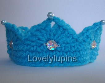 baby crown, crown, crochet crown, baby, crochet photo prop, photo prop, baby beaded crown, baby photo prop, royal gems crown, king, queen,