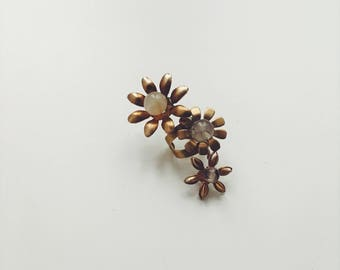Manchette d'oreille de mini fleurs sauvages, #1510