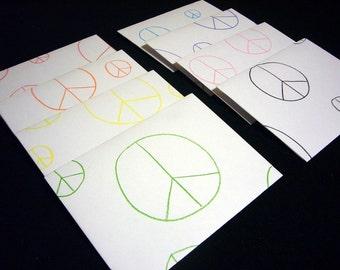 Peace Sign Envelopes