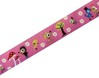 Animal pink farbenmix Ribbon 15mm by the yard
