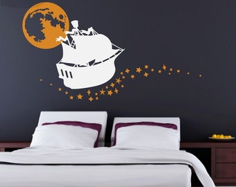 Sailing on Stars - Solar System - Custom Quote Vinyl Wall Decal -CUSTOM INTA