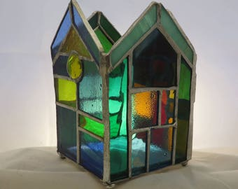 Stained Glass Candleholder