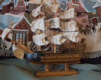 Wooden Ship Vintage Replica