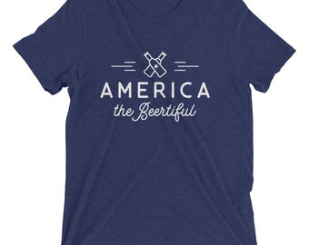 America the BEERtiful (Men's T-Shirt)