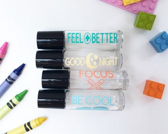 Kid's Roller Bottle Labels - Kid's Essential Oil Label Collection - Back to School Essentials