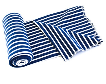 Swaddle Sale! Organic Cotton Swaddle Blanket for Baby - Nautical Navy Stripe