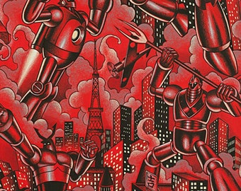 Alexander Henry - Tokyo Bots in Red