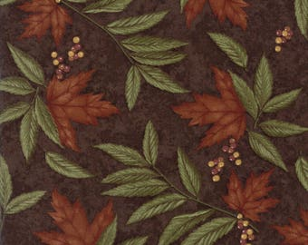 Moda COUNTRY ROAD Quilt Fabric 1/2 Yard By Holly Taylor - Earth 6661 21
