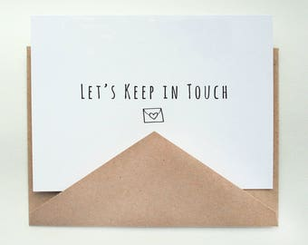 Let's Keep in Touch   -- Card & Envelope Set