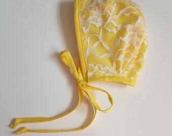 6-12M Forsythia Bonnet