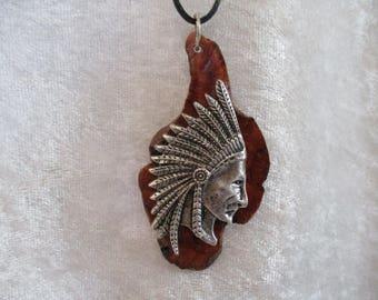 Indian Chief head pendant
