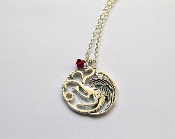 House Targaryen Sigil Necklace inspired by Game of Thrones