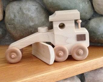 Wood Toy Road Grader
