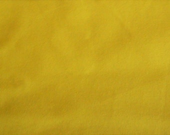 """Over 2 Yds Sunflower Yellow Heavy Cotton  Twill like Fabric  80"""" X 60"""" Soft no Stretch"""