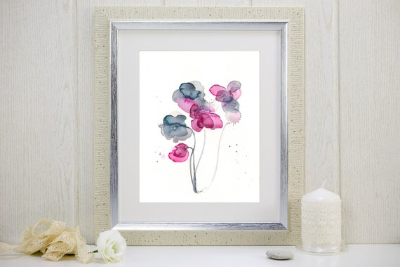 "Watercolor flower print: ""Frozen in Time"""