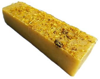 SOAP - 3.5 lb Calendula Lemongrass Soap Loaf, Wholesale Soap Loaves, Vegan Soap, Cold Processed Soap, Natural Soap, FREE SHIPPING