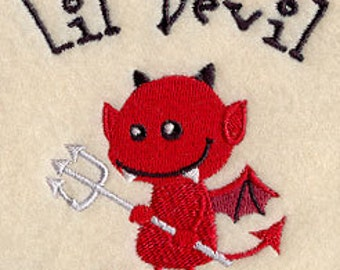 Lil Devil Embroidered Flour Sack Hand/Dish Towel