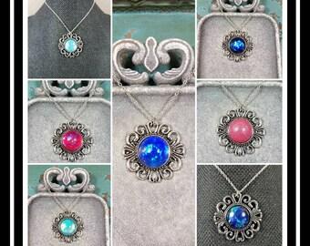 Memorial Ash Necklace/Cremation Pendant/ Pet Memorial Jewelry/ Memorial Jewelry/60 Color Options