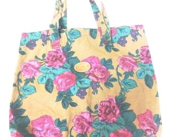 Vintage Gitano Floral Tote Bag