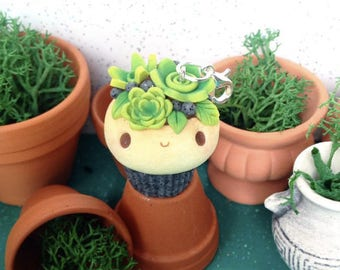 Succulent Cupcake - Polymer Clay Charm