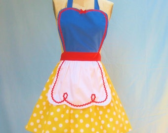 SNOW WHITE apron retro APRON womens full  Halloween costume aprons style SNW101
