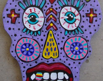 Original Whimsical Folk Art Sugar Skull