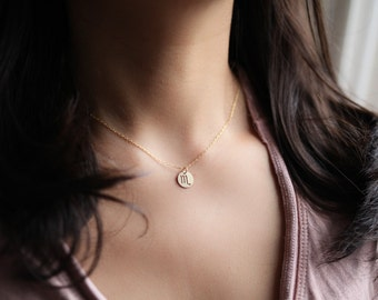 zodiac necklace, zodiac pendant, zodiac sign necklace, dainty necklace, constellation necklace - gold filled