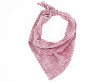 Red Linen Bandana // Scarf // Wrap // Headband // Neckerchief // Neck Tie