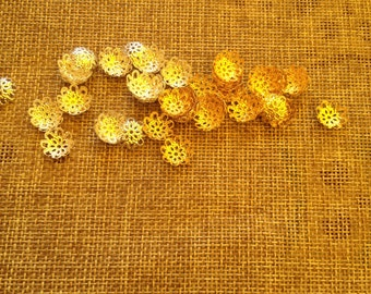 20 sottoperla 10 mm metal in gold or silver