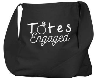 Totes Engaged Black Organic Cotton Slouch Bag