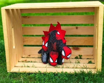 Nerdisaurus Handmade Marvel Spider-Man Stuffed Stegosaurus Dinosaur Toy