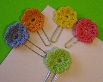 Staples with crochet flower