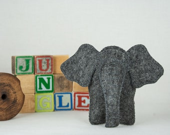 Elephant Sewing PATTERN, Felt Toy Pattern,  Baby Toy Pattern, Stuffed Animal Pattern, PDF Sewing Pattern, Soft Toy Pattern,