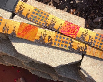 Desert Sunset Guitar, Mountain Dulcimer, Banjo Instrument Strap