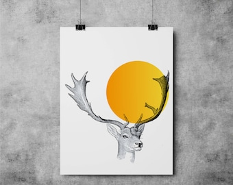 Deer Illustration 004