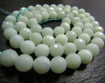 Set of 10 6mm faceted Amazonite beads