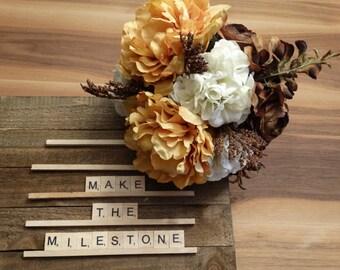 Bridal Bouquet - Silk Flowers - Peony, Hydrangea, Ranunculus, Wisteria