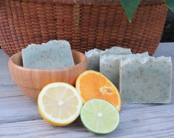 Sage and Citrus Soap, All Natural Soap, Handmade Soap, Bath Soap, Cold process Soap, Homemade Soap, Artisan Soap, New Hampshire, Lemon, Lime