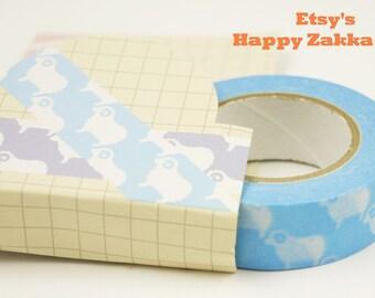 White Sheep with Blue - Japanese Washi Masking Tape - 11 yard - No Discount