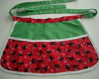 Christmas Scotties Craft Apron