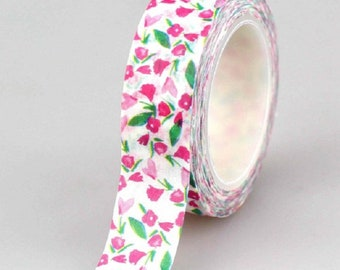 Masking tape spring flowers - Washi tape flower pink and white