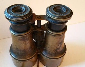 Reduced. Old binoculars, with leather strap